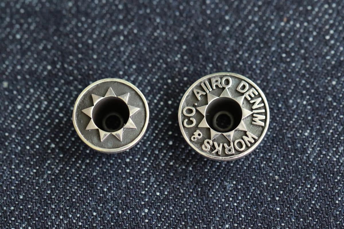 シルバー925のジーンズのネオバボタン