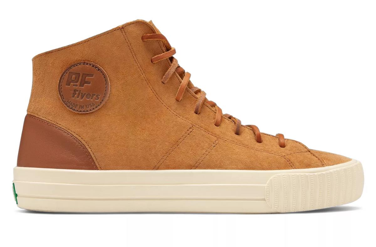 PF FLYERS(ピーエフフライヤーズ)Center Hi Suede made in USAのスニーカー